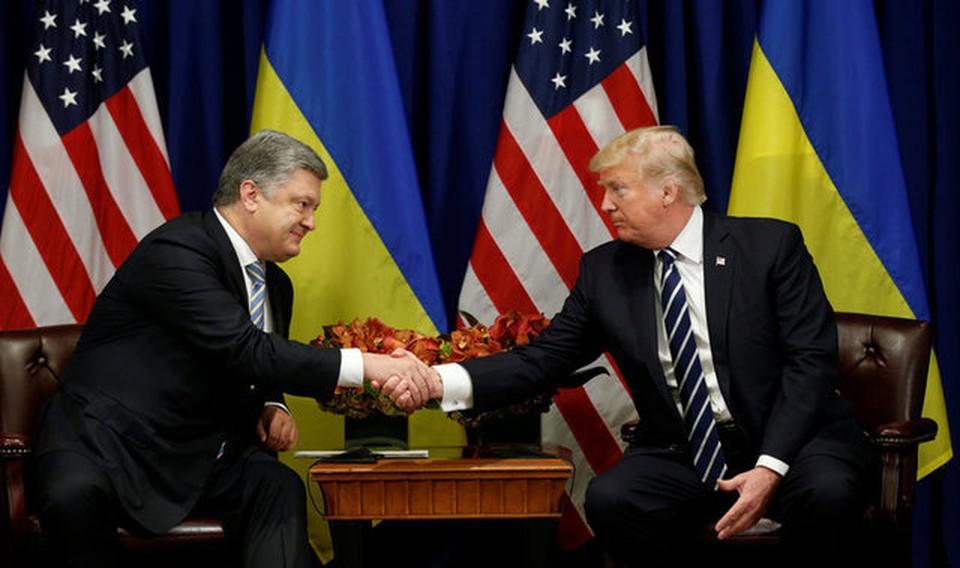 Президент Украины Петр Порошенко и глава США Дональд Трамп