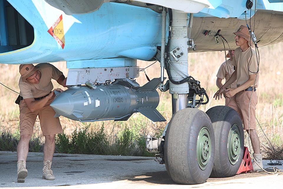 Для поражения данной цели из состава дежурных сил российской авиации в Сирии были назначены самолеты Су-34