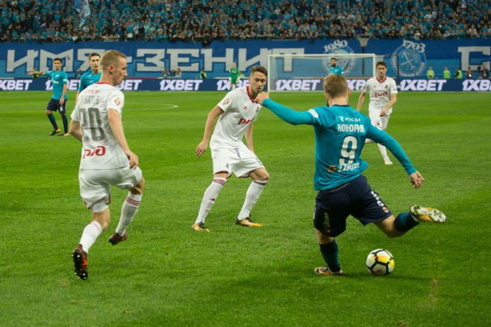 Матч прошел в Петербурге на стадионе на Крестовском острове