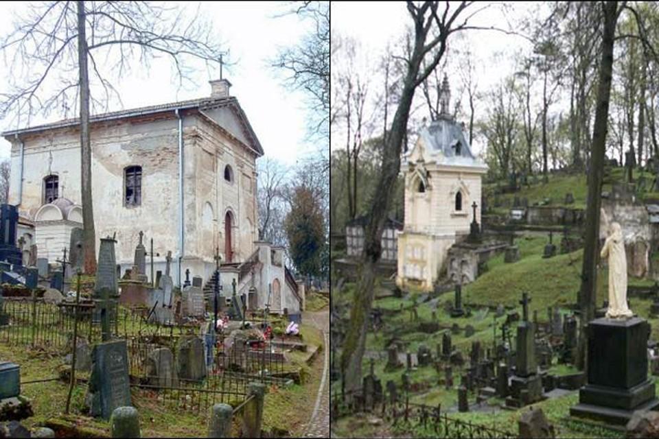 Пока в качестве места захоронения останков Калиновского и Сераковского рассматривают два вильнюсских кладбища начала XIX века - Бернардинское (его фрагмент слева) и Роса. Фото: Radzima.org