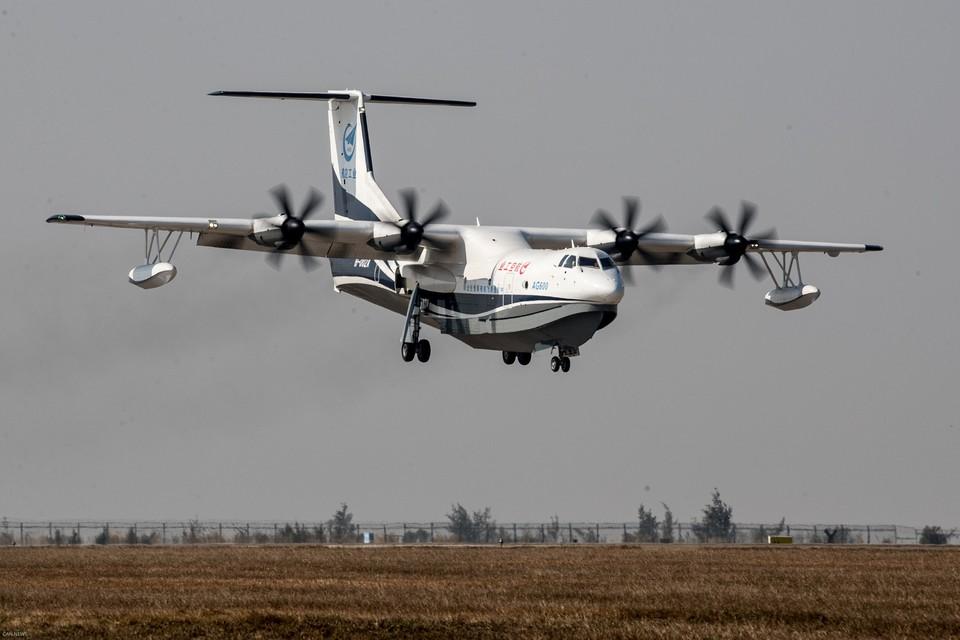 Самолет-амфибия AG600 может набирать 12 тонн воды за 12 секунд