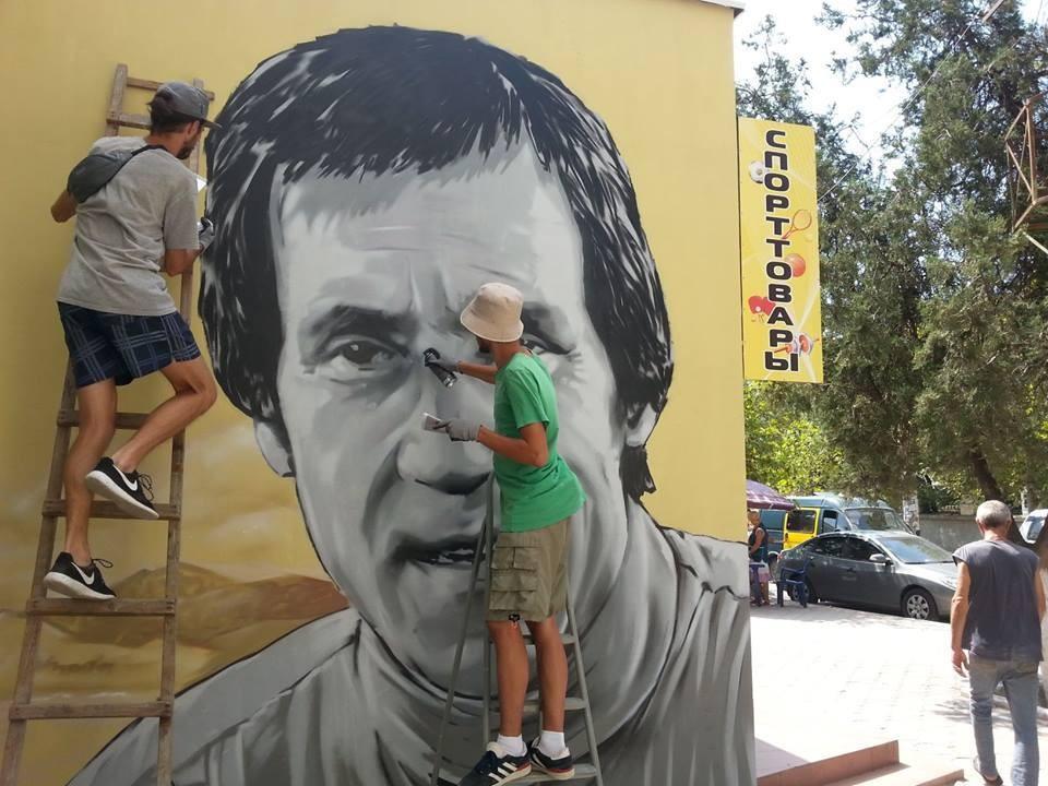 Граффити в Судаке появилось в 2016 году