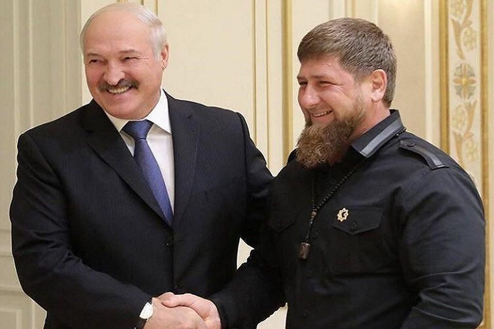 Лукашенко поблагодарил Кадырова. Фото: vk.com/ramzan