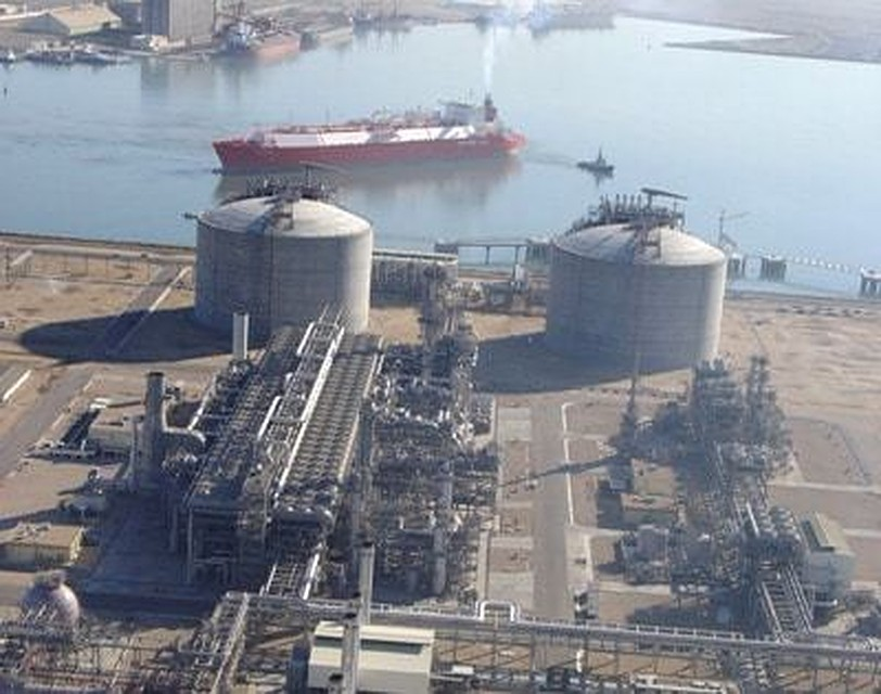 The LNG plant at Damietta, Egypt