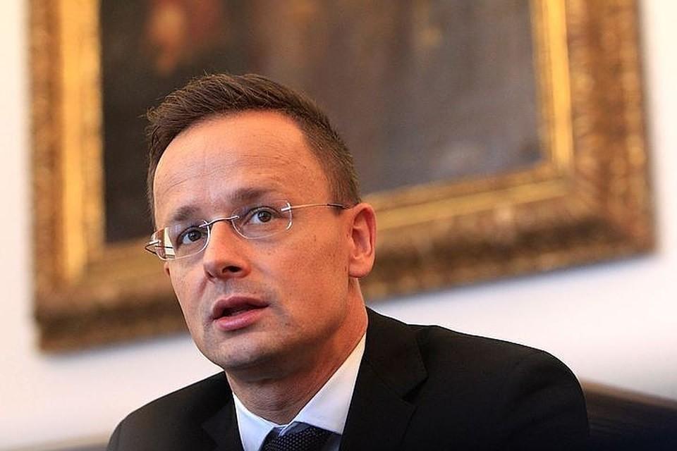 Министр иностранных дел и внешней торговли Венгрии Петер Сийярто.