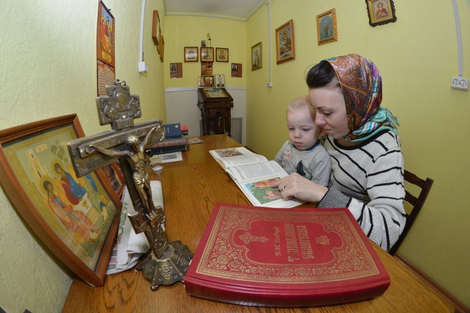 В приюте есть комната-часовня, где молодые женщины могут помолиться и попросить сил у Всевышнего