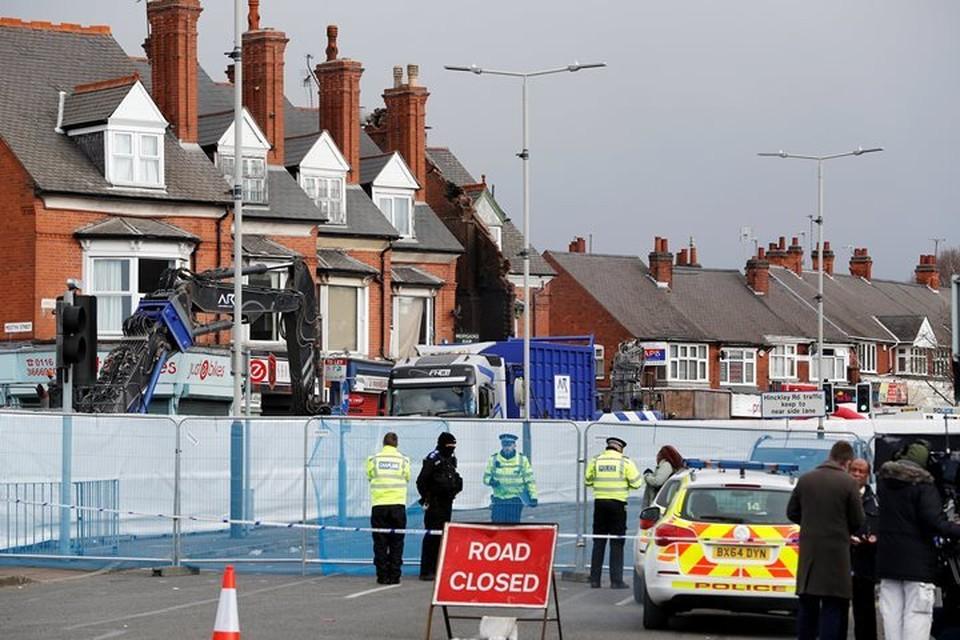 Район взрыва в городе Лестер все еще оцеплен полицией