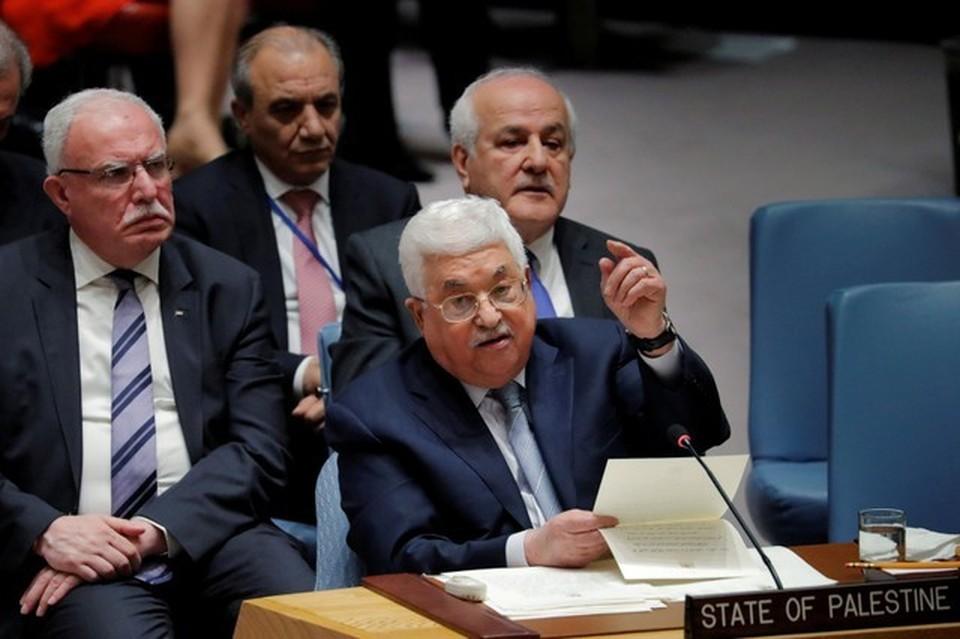 Палестинский лидер Махмуд Аббас в Нью-Йорке