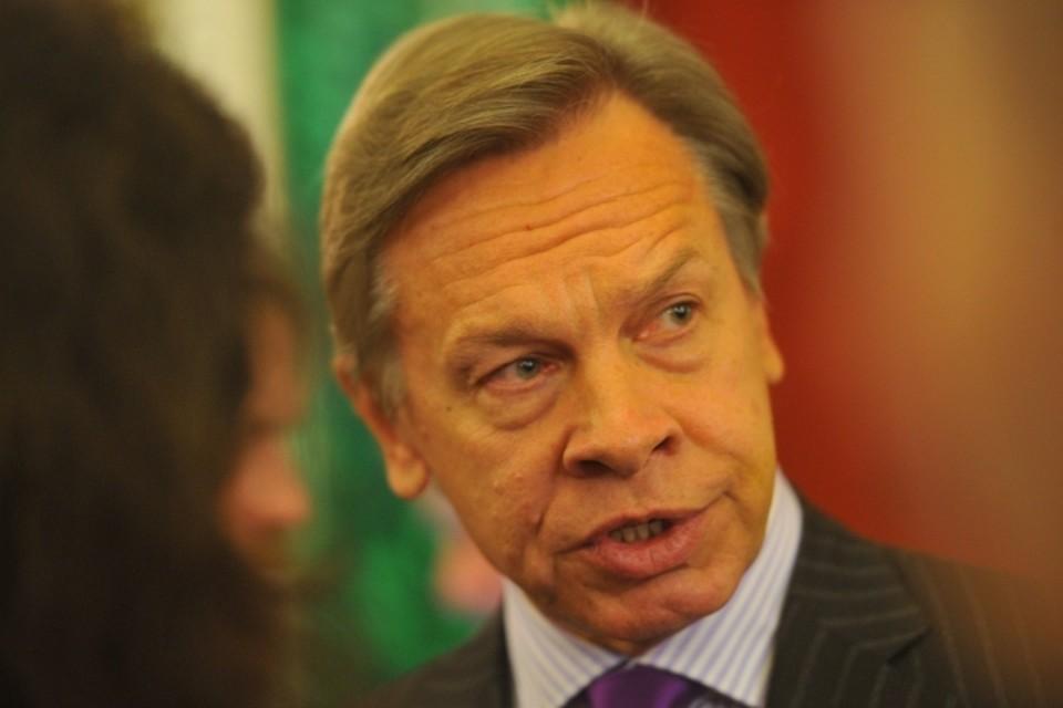 Глава комиссии Совфеда по информационной политике Алексей Пушков