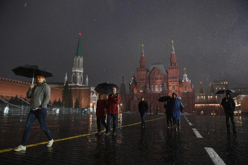 В Москве ожидается снег с дождем
