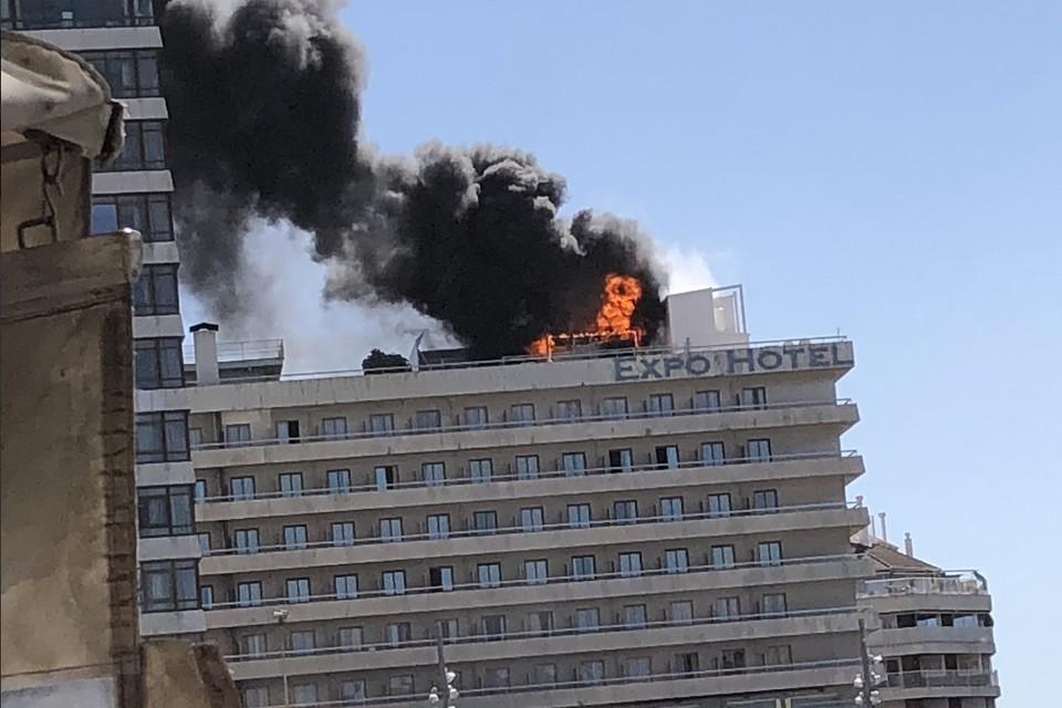 В результате пожара пострадал один человек. Фото: @oscarmontes