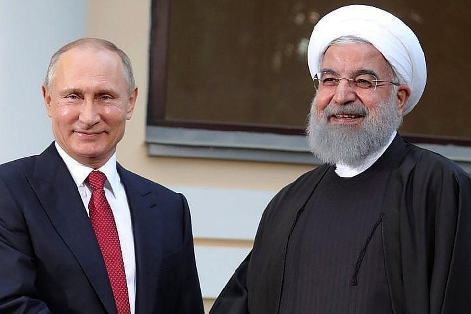 Президент России Владимир Путин и глава Ирана Хасан Роухани