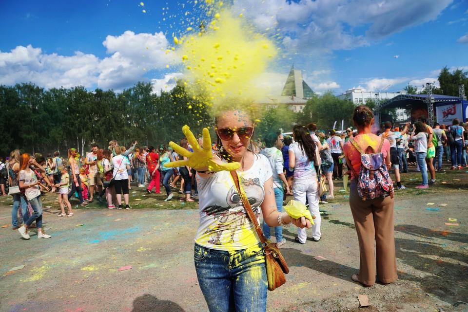 Одним из мероприятий на майских праздниках будет фестиваль красок