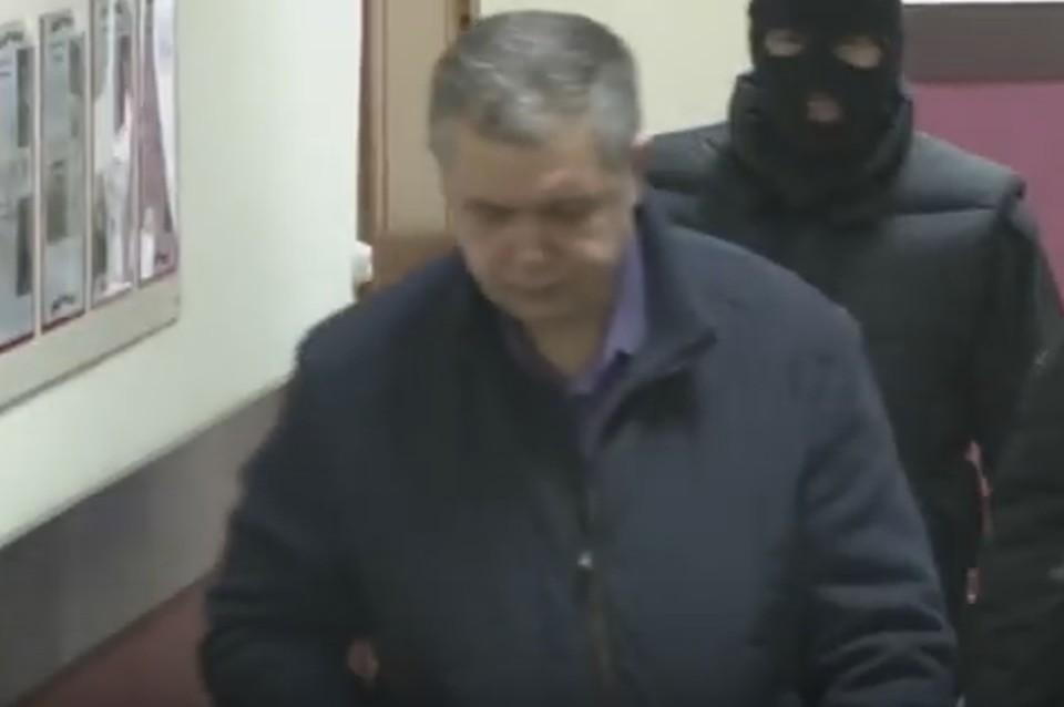 Задержание начальника МЧС Кузбасса Мамонтова Скриншот с видео СК России