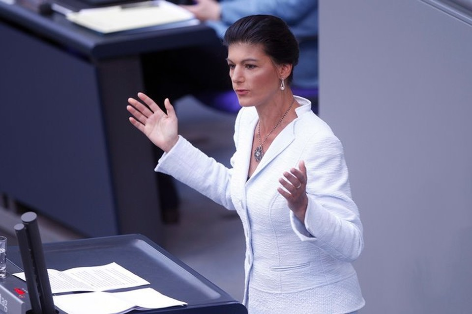 Сопредседатель фракции Левой партии в бундестаге Сара Вагенкнехт