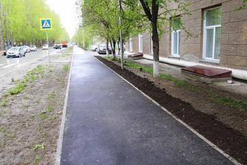 В Новосибирске проходит масштабный ремонт пешеходных дорожек