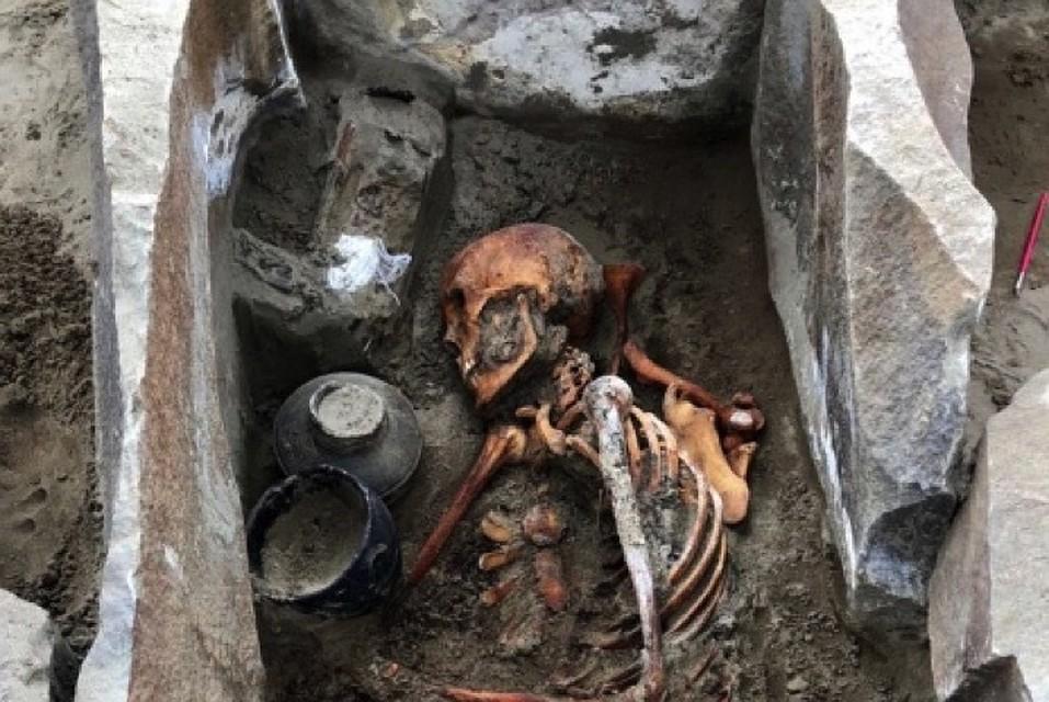 Мумия, обнаруженная в республике Тыва.