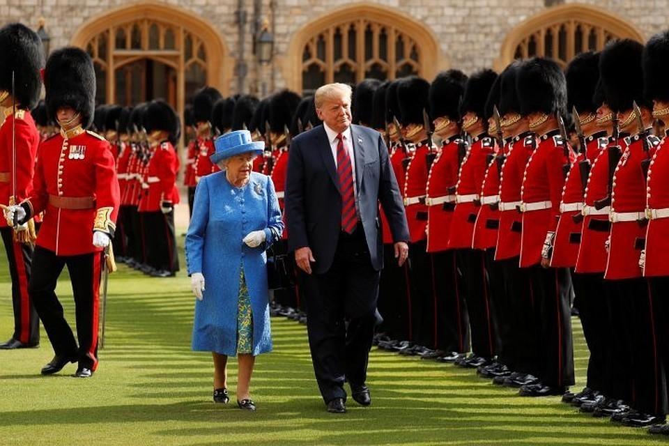 Королева Великобритании Елизавета II и президент США Дональд Трамп