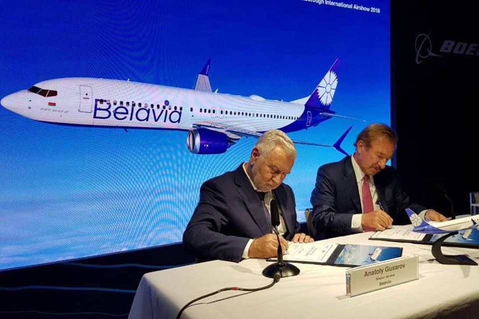 Новейший Boeing 737 MAX прилетит в авиакомпанию «Белавиа» в мае следующего года. Фото: пресс-служба «Белавиа».