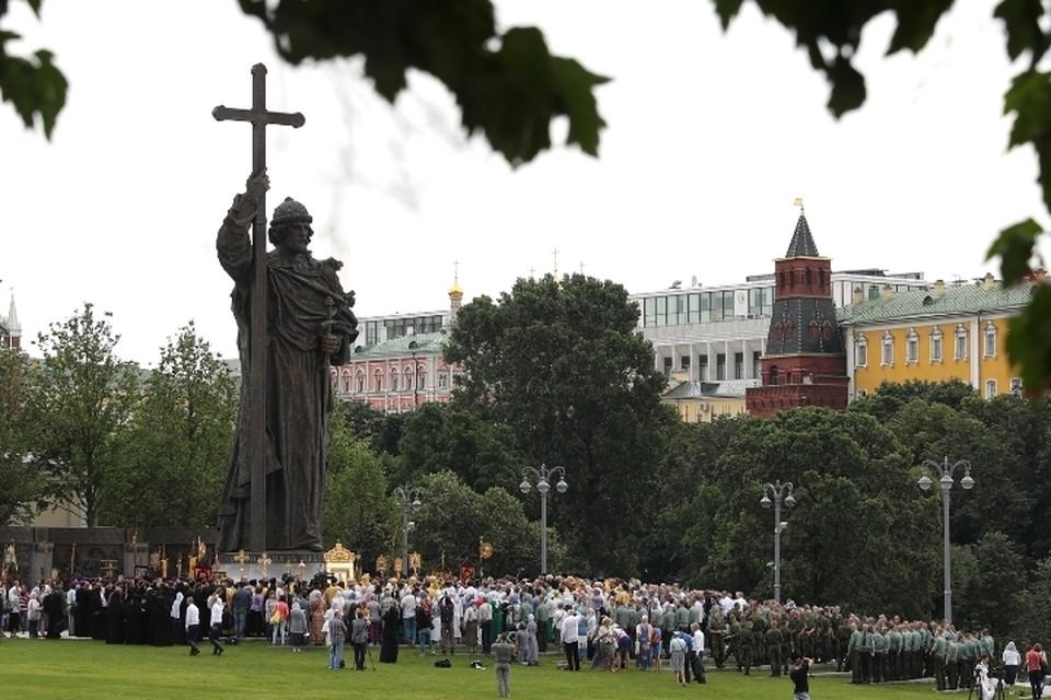 В Москве проходят торжественные мероприятия по случаю 1030-летия Крещения Руси. Вячеслав Прокофьев/ТАСС