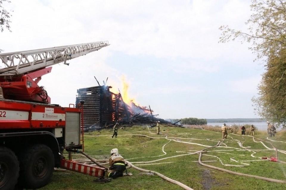 Церковь планируют восстановить Фото: ГУ МЧС по Республики Карелии
