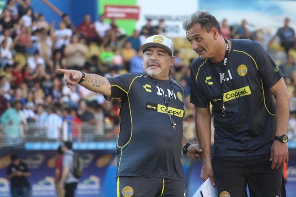 """Марадона провел с """"Дорадос"""" тренировку. Фото: twitter.com/Dorados"""