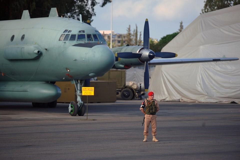 Самолет ВКС РФ Ил-20 в Сирии.