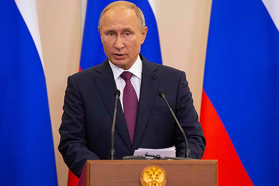 Заявил Путин и об анонсированных Минобороны ответных шагах