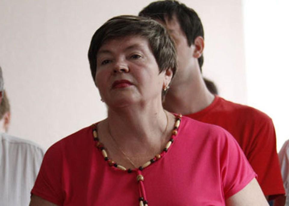 Надежда Цапок на заседаниях суда по ее же делу