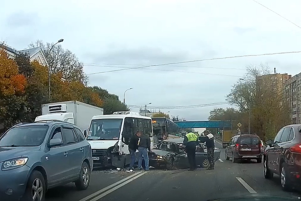 В аварии пострадали семь человек. ФОТО: стоп-кадр с видео