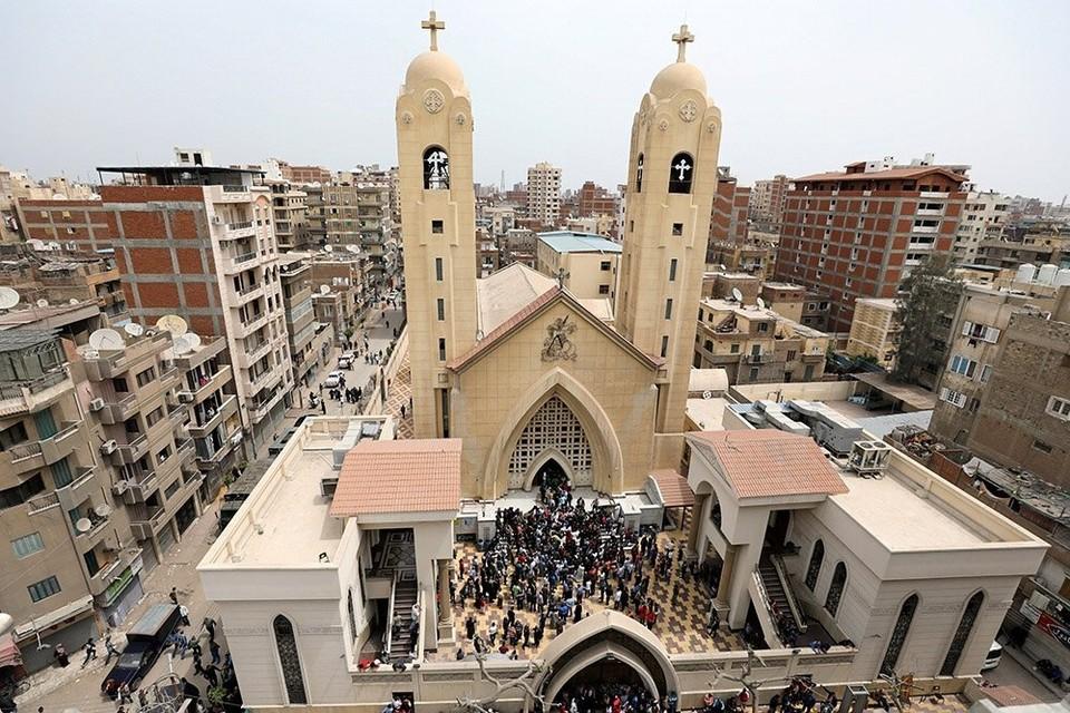 Взрыв в церкви египетского города Танта в апреле 2017-го года.