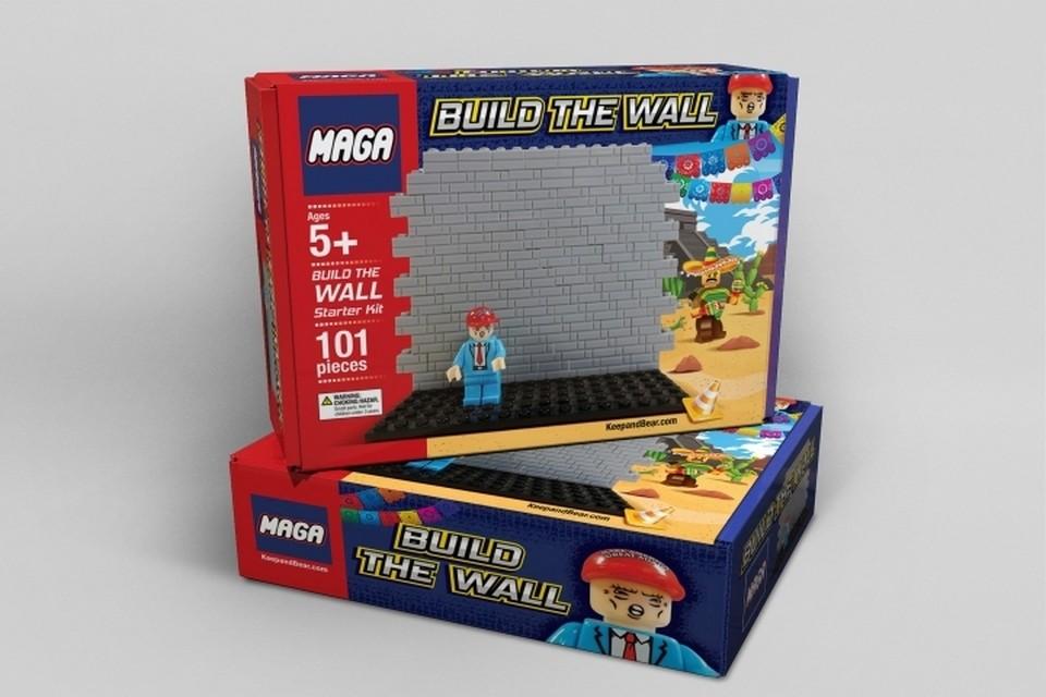 В Америке поступят в продажу игрушечные копии стены на границе Мексики Фото: Keep and Bear