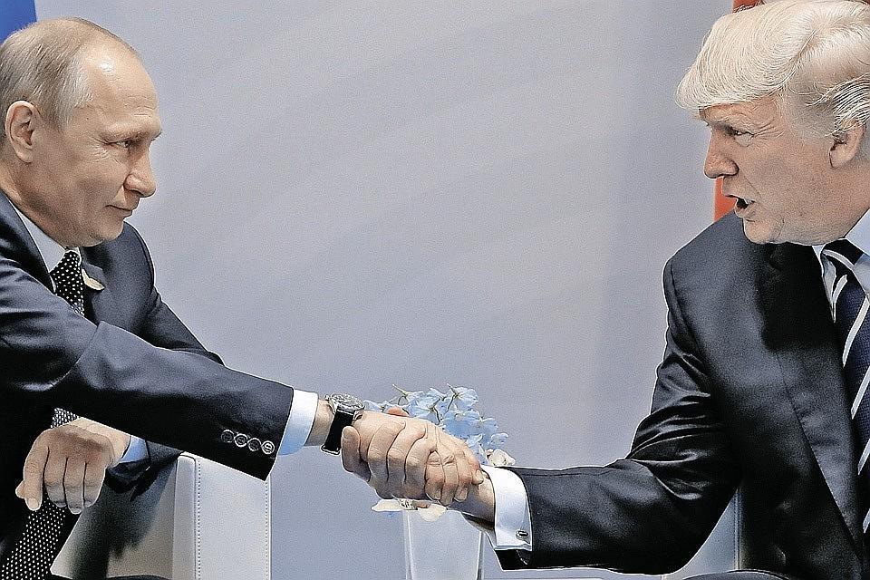 Президент РФ Владимир Путин и глава США Дональд Трамп