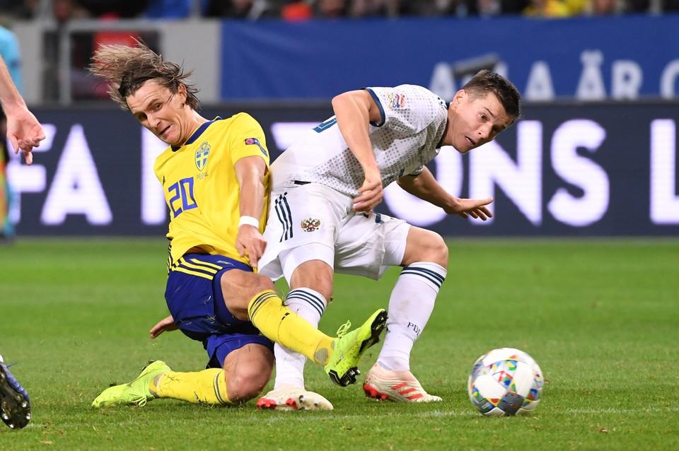 Сборная России сыграла против Швеции.