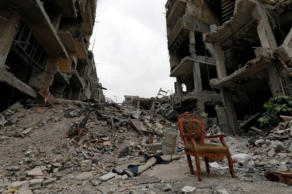 Коалиция США регулярно наносит авиаудары по сирийскому городу Хаджин