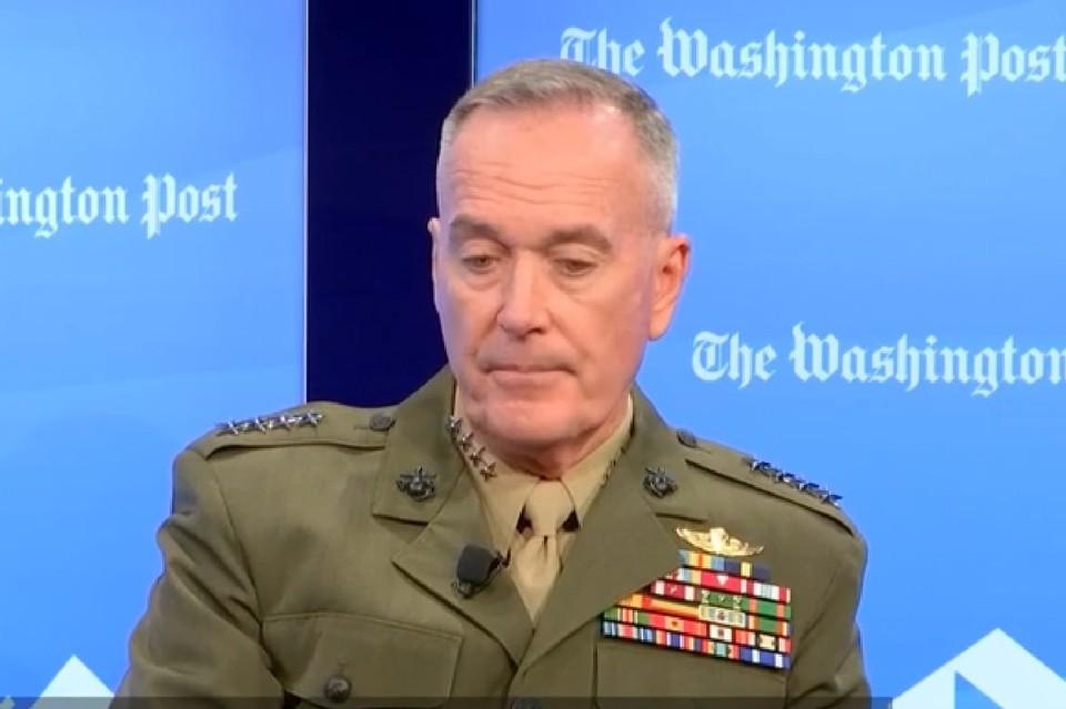 Председатель Комитета начальников штабов Вооруженных сил США генерал Джозеф Данфорд. Фото: скриншот видео