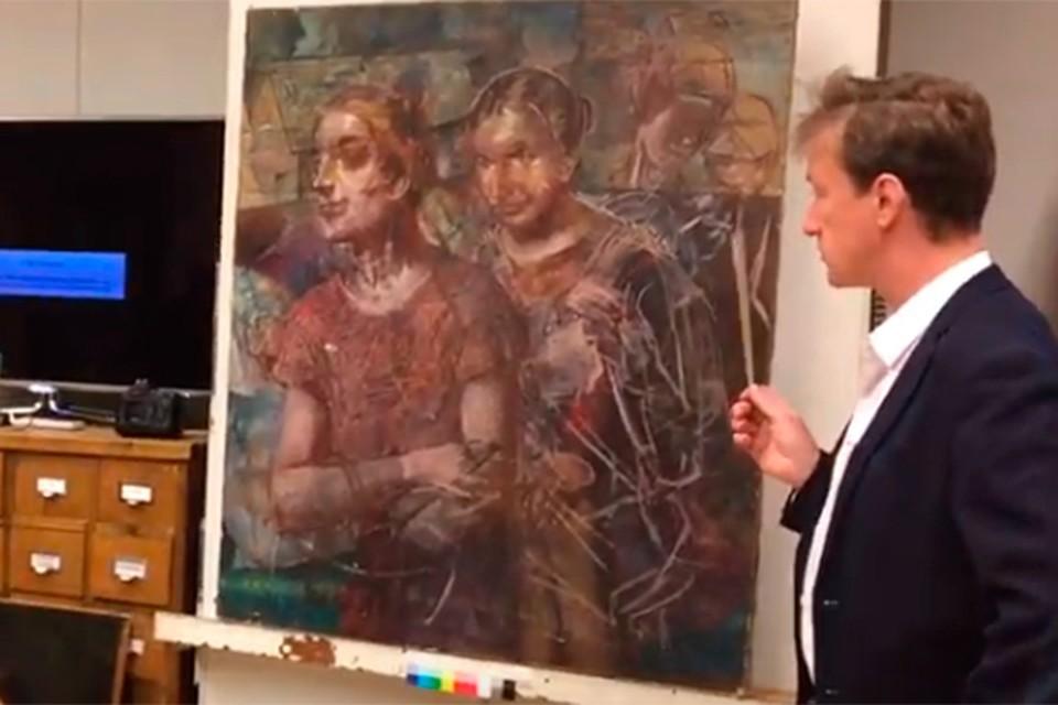 В Русском музее нашли утраченный портрет Пушкина. Фото: Пресс-служба Русского музея. Стоп-кадр с видео.