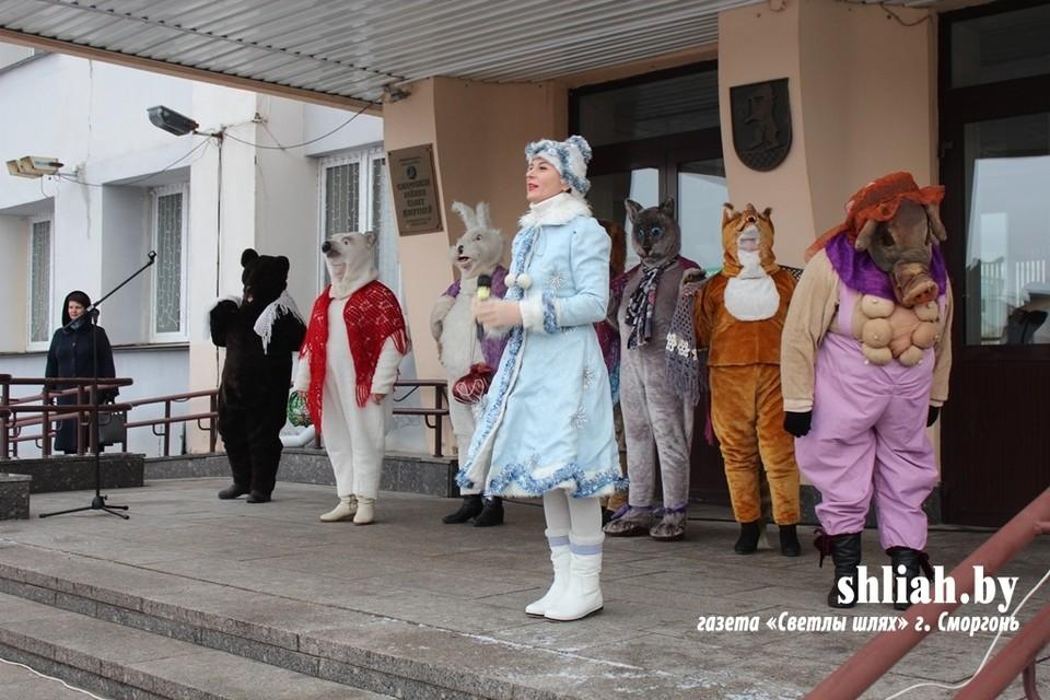Свинья из Кореличей затмила в Сморгони снерурку. Фото: shliah.by