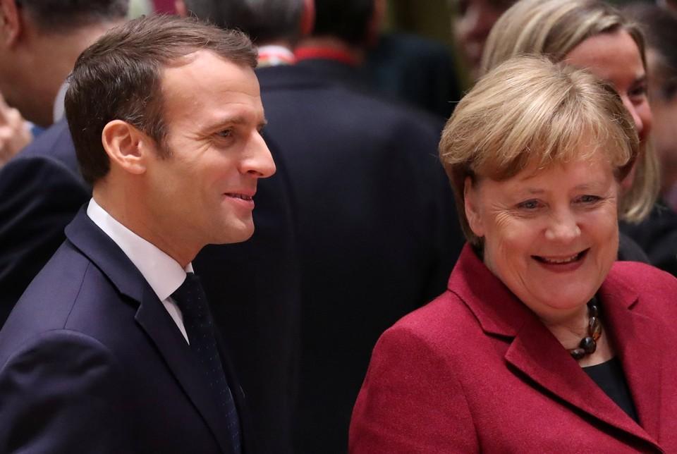 Канцлер Германии Ангела Меркель и президент Франции Эмманюэль Макрон