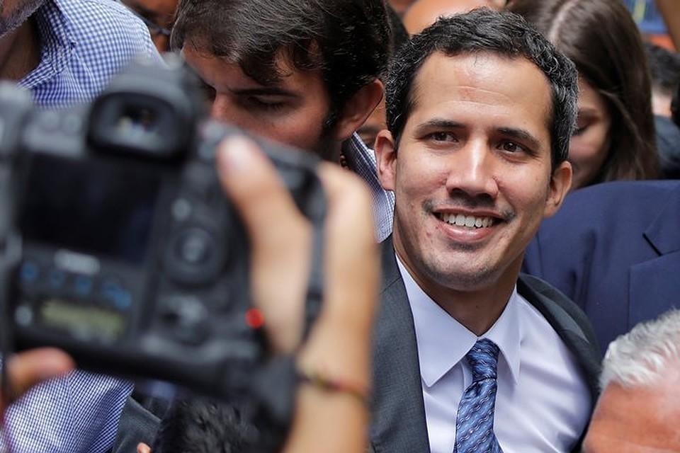 Спикер Национальной ассамблеи Венесуэлы Хуан Гуайдо