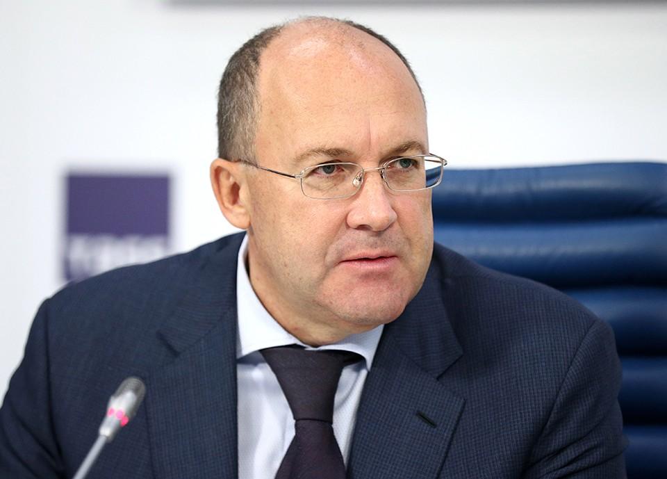 Бывший руководитель Ростуризма Олег Сафонов во время пресс-конференции, осень 2018 года. Фото Михаил Терещенко/ТАСС