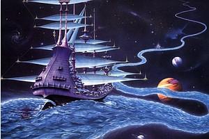 Инопланетный корабль присосался