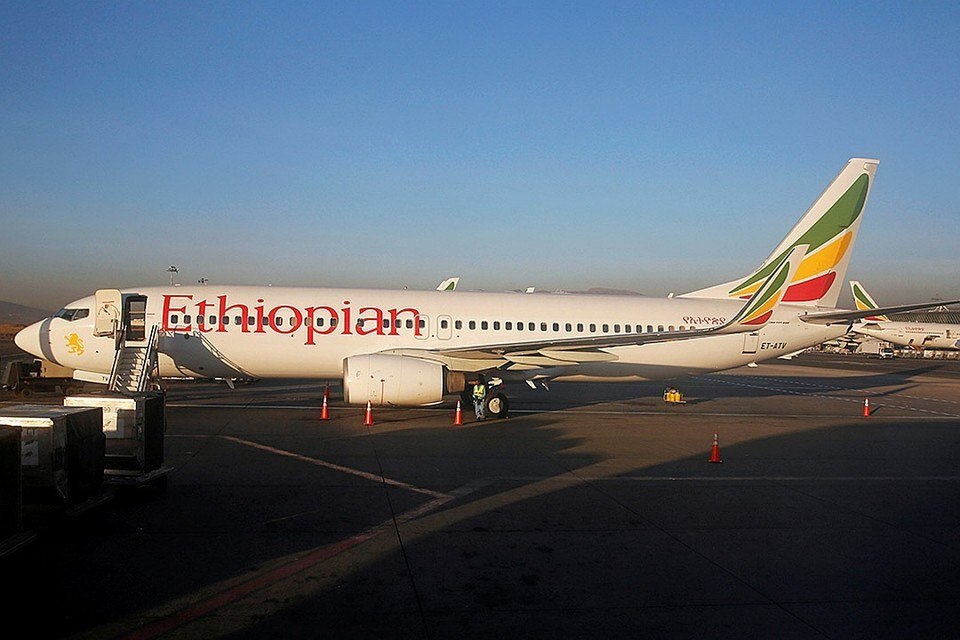 """Разбившийся """"Боинг"""" авиакомпании Ethiopian."""
