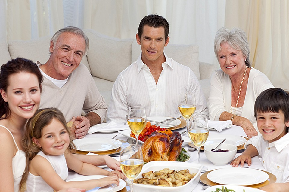У большинства долгожителей сильны семейные традиции общих обедов
