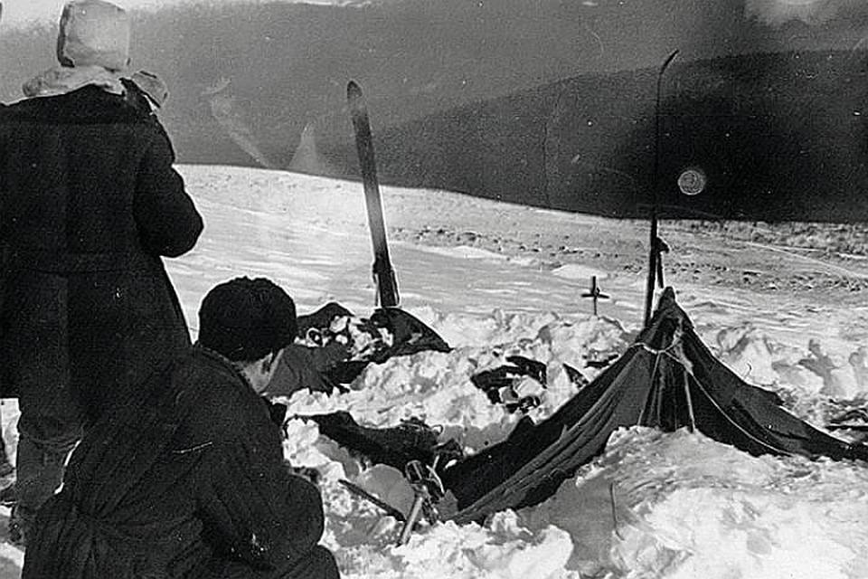 """Таким обнаружили лагерь """"дятловцев"""" спасатели много лет назад."""