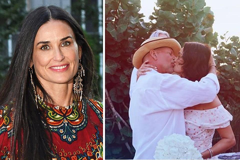 64-летний Брюс Уиллис снова женился и пригласил на свадьбу Деми Мур