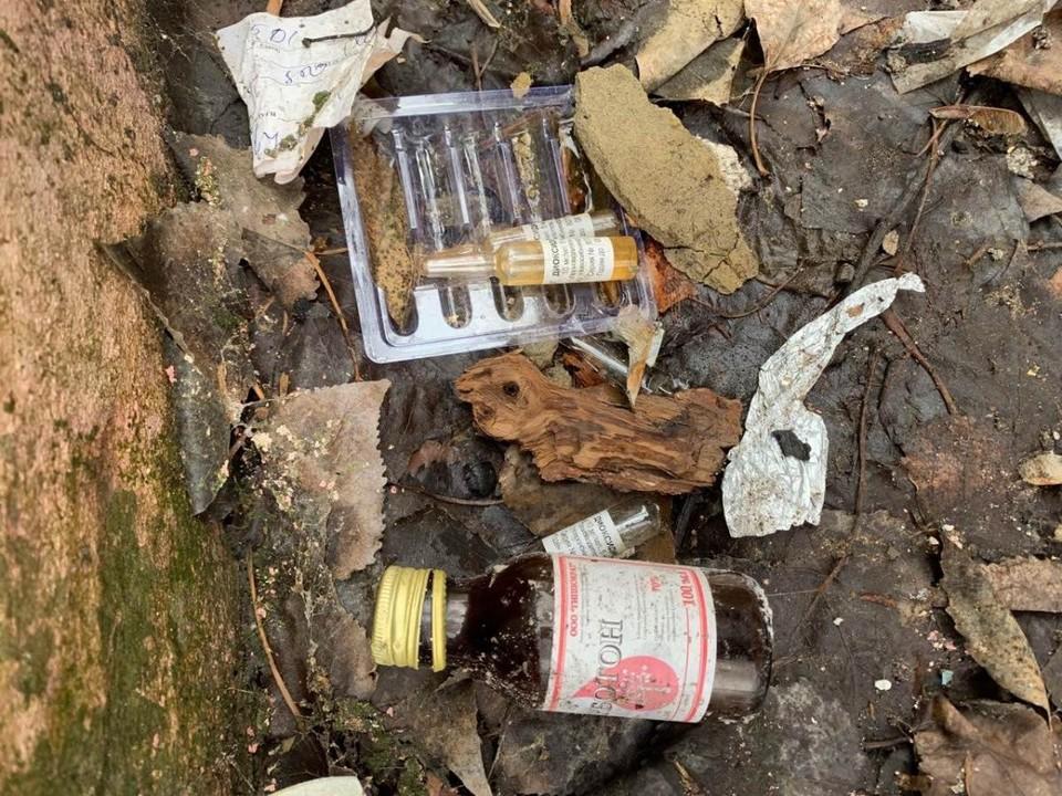 Свалка медкарт и медотходов. Фото прокуратуры Саратовской области