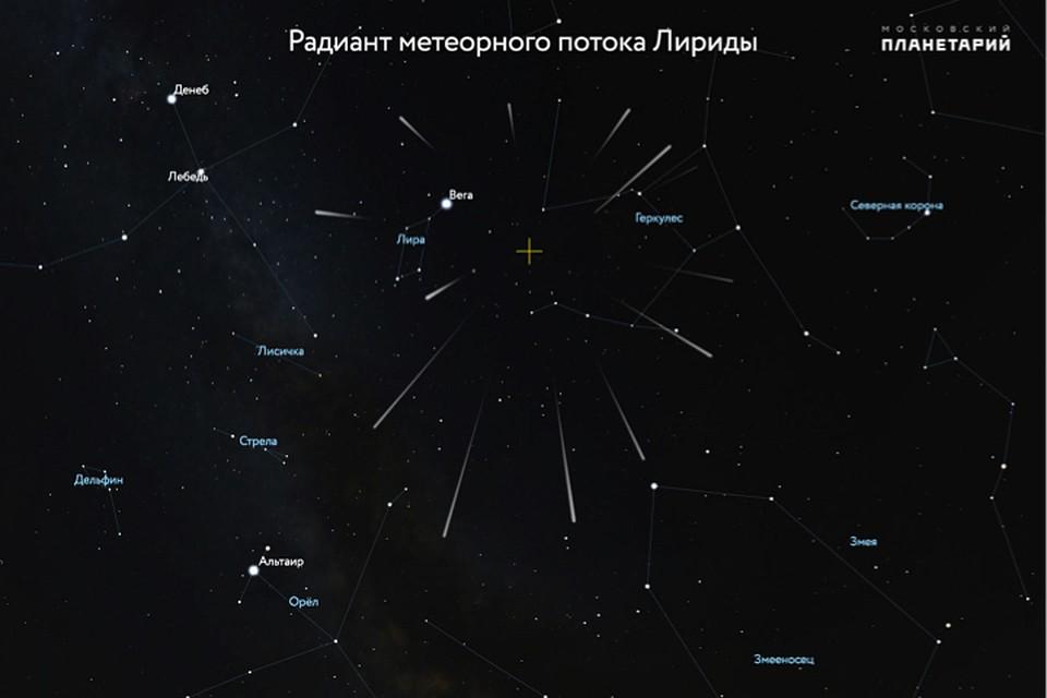 Метеорный поток Лириды: смотрите сегодня, как стемнеет и до рассвета