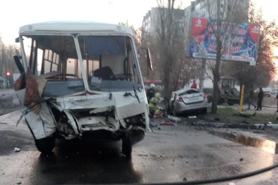 Так выглядел автобус после аварии