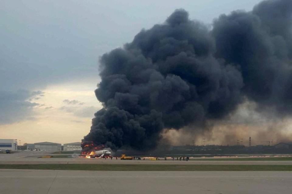 Самолет «Москва – Мурманск» загорелся при посадке в аэропорту «Шереметьево»
